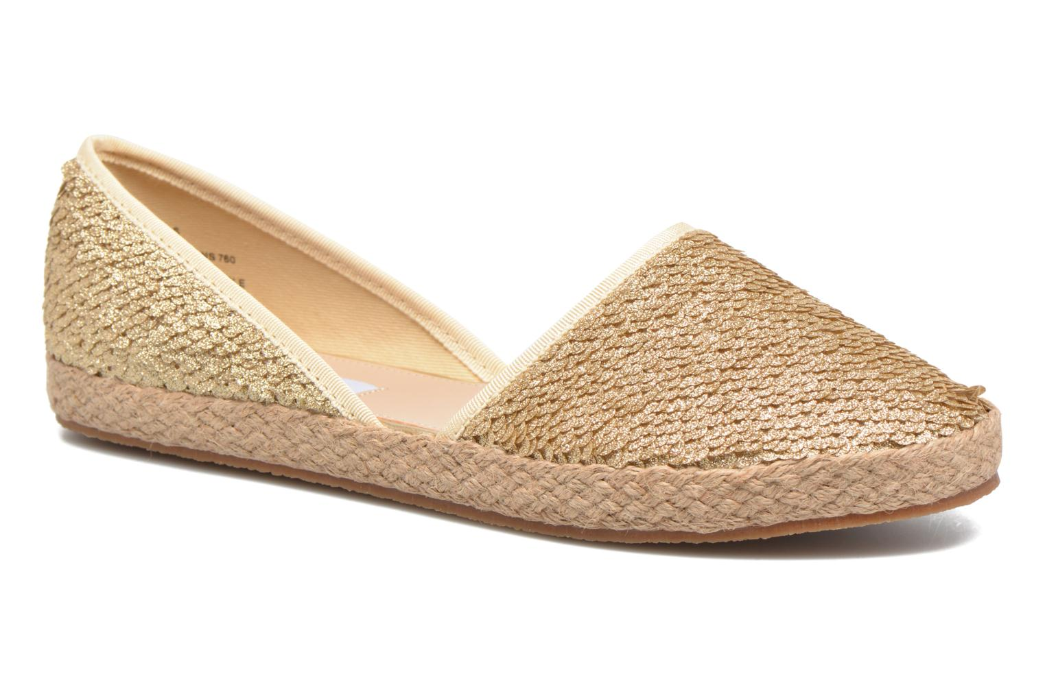 Peach-S Espadrille 15001 Gold Sequins/PU